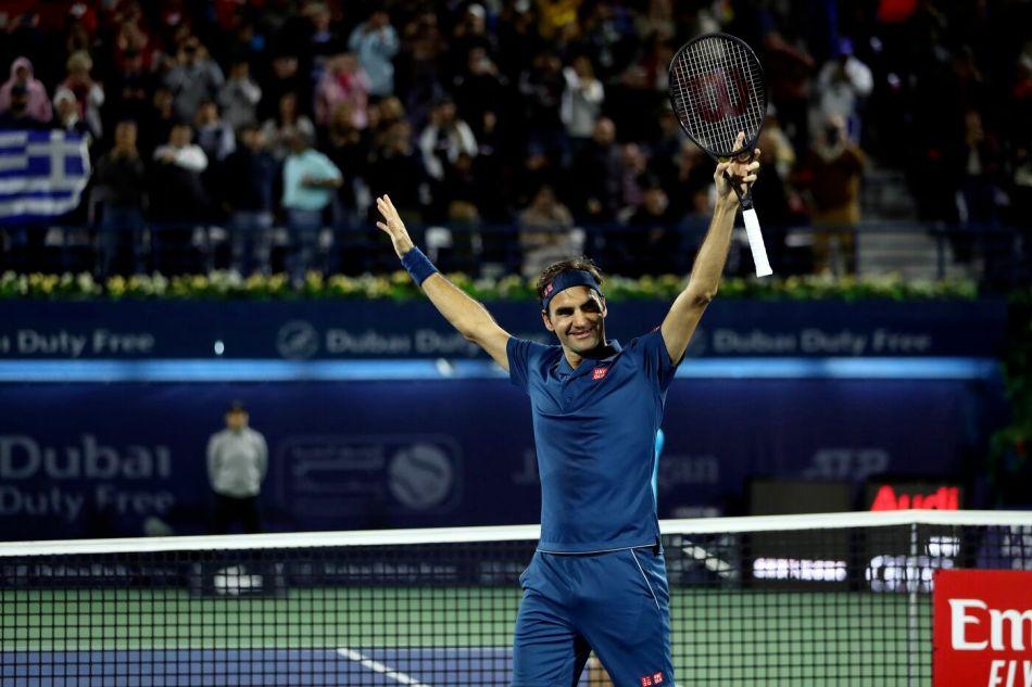 Tennis, ATP Dubai - La finale tra Roger Federer e Stefanos Tsitsipas