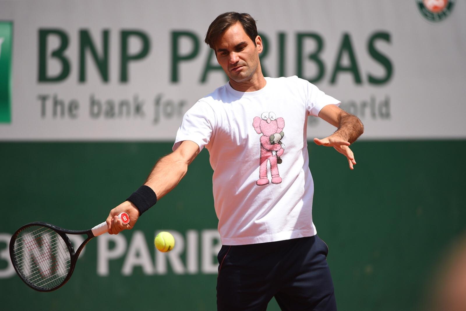 Roger Federer, Roland Garros 2019, Entrainement, Photo : Corinne Dubreuil / FFT